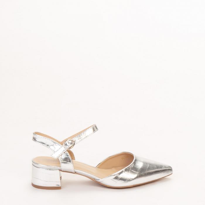 Pantofi dama Leela argintii 0