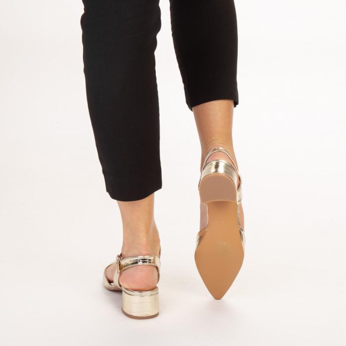 Pantofi dama Leela aurii 3
