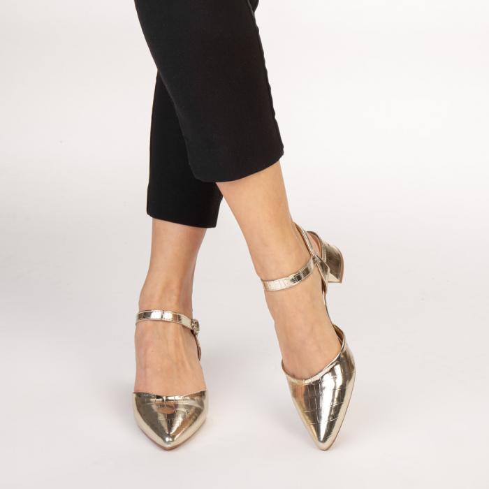 Pantofi dama Leela aurii 1