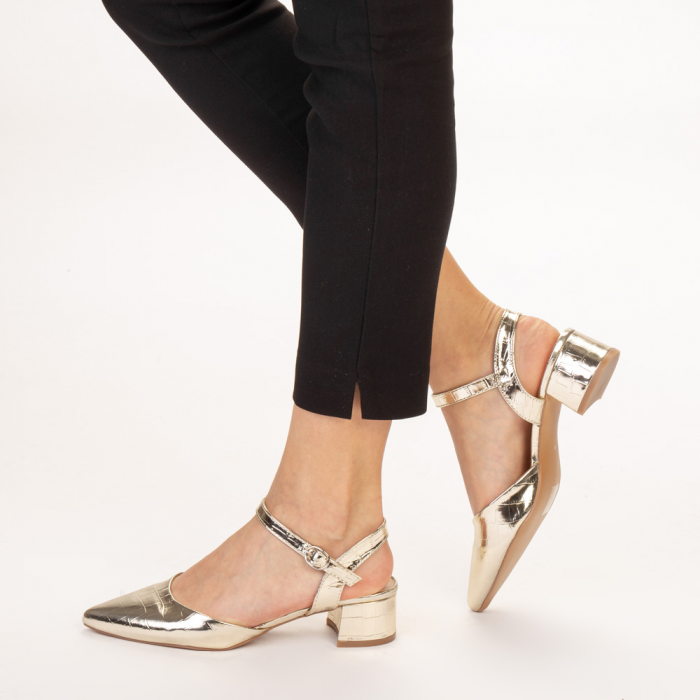 Pantofi dama Leela aurii 2
