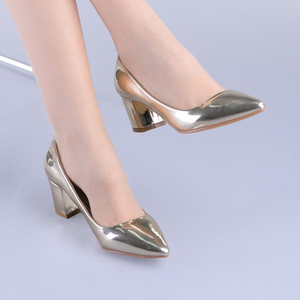 Pantofi dama Mirela aurii 1