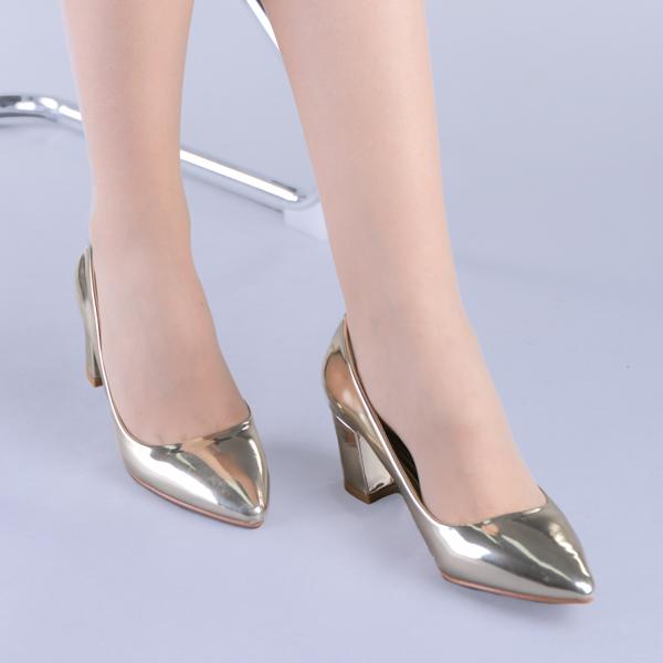 Pantofi dama Mirela aurii 4