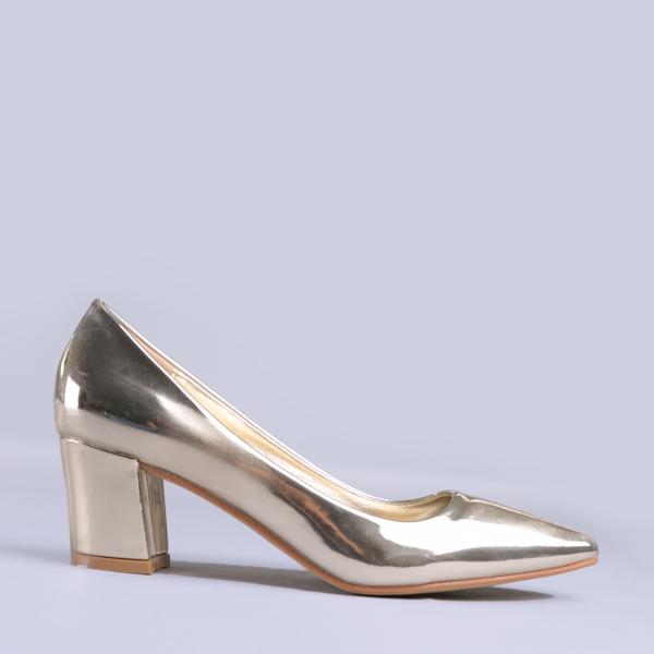 Pantofi dama Mirela aurii 0
