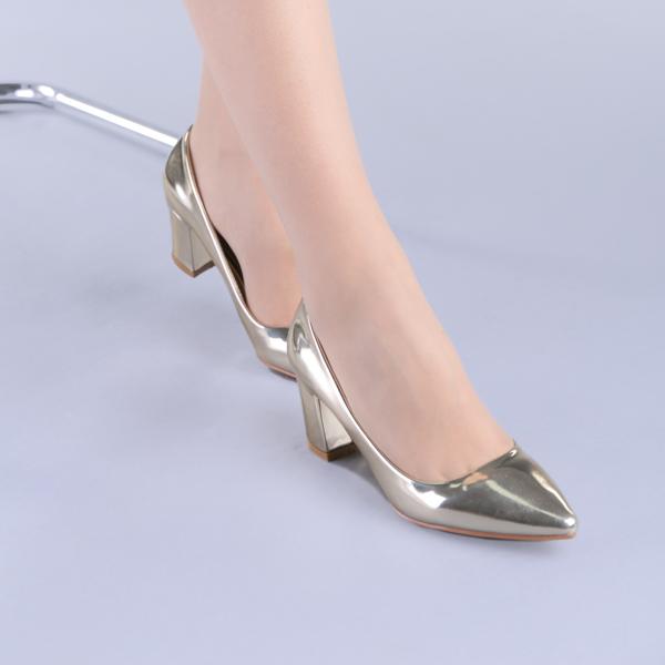 Pantofi dama Mirela aurii 3