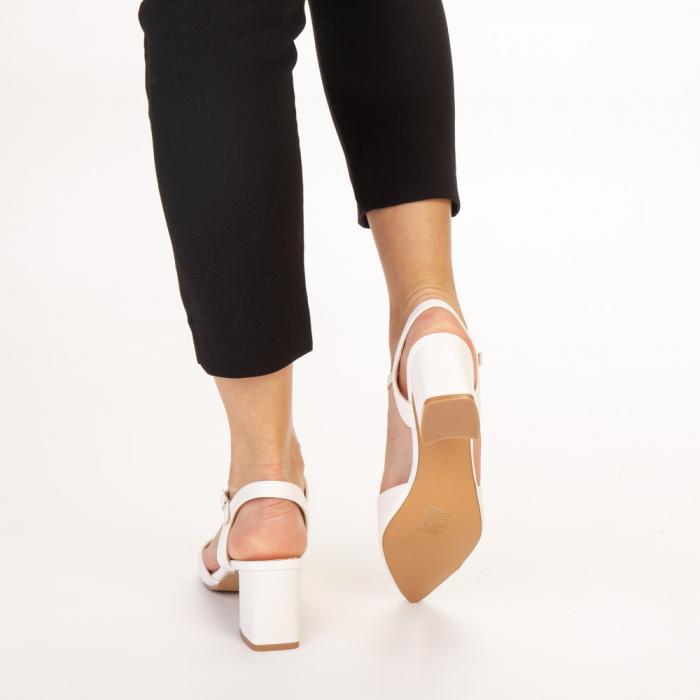 Pantofi dama Naden albi 3