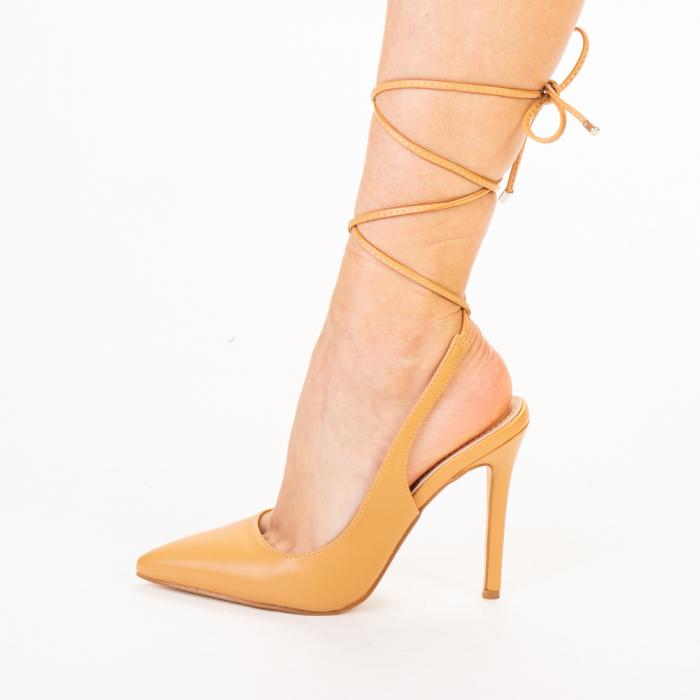 Pantofi dama Neiva camel 2