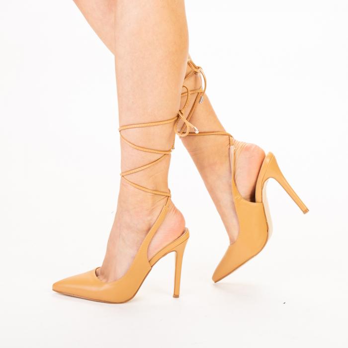 Pantofi dama Neiva camel 1