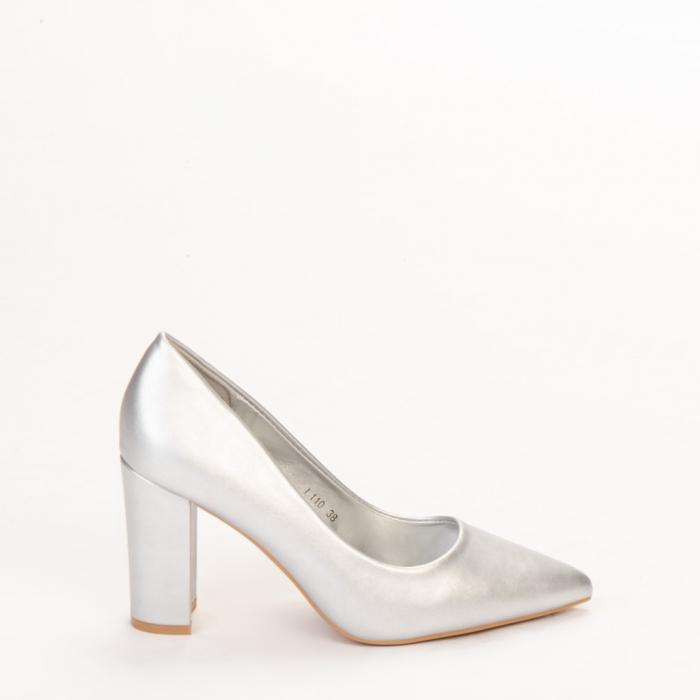 Pantofi dama Nelda argintii 0