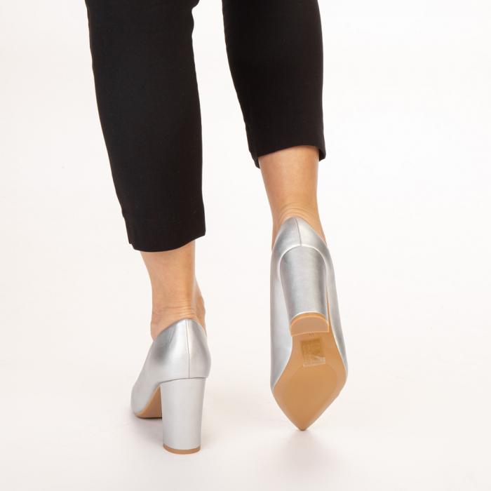 Pantofi dama Nelda argintii 3