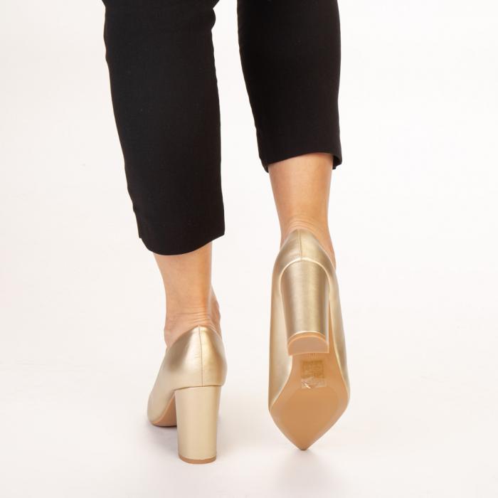 Pantofi dama Nelda aurii 3