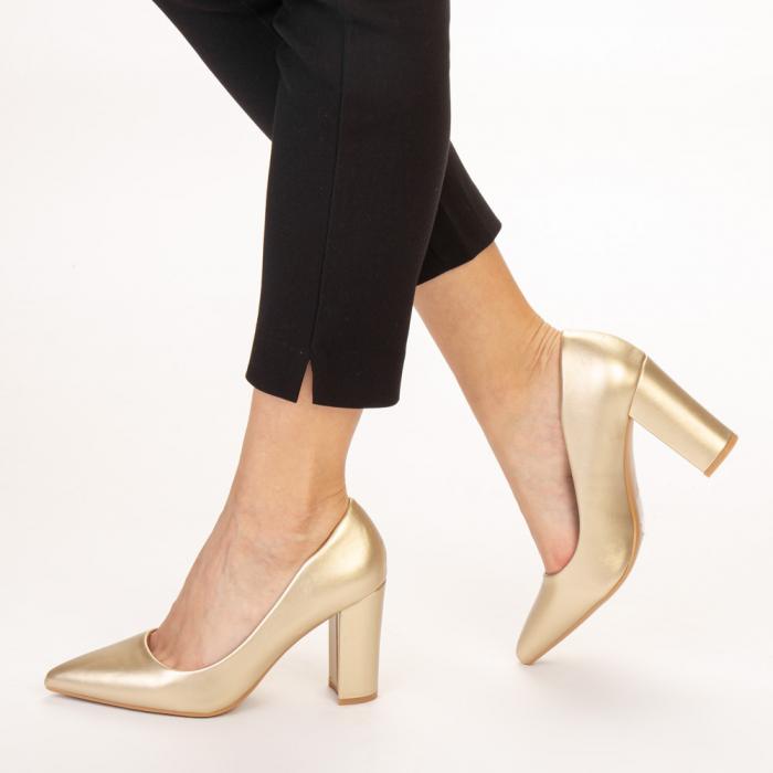 Pantofi dama Nelda aurii 2