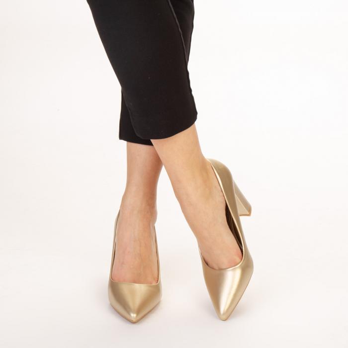 Pantofi dama Nelda aurii 1