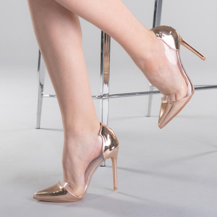 Pantofi dama Pamela champanie 0