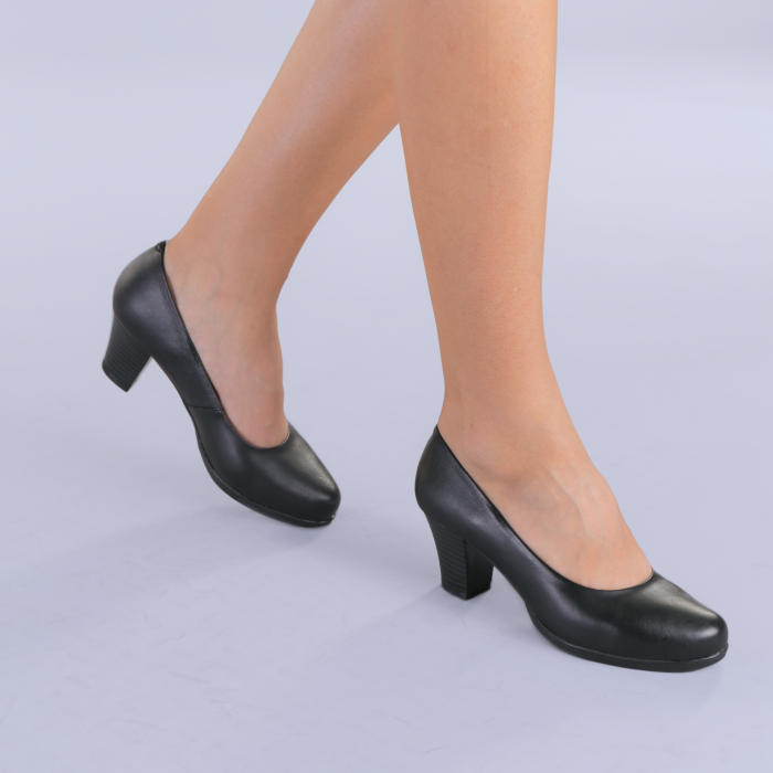 Pantofi dama piele Seea negri 3