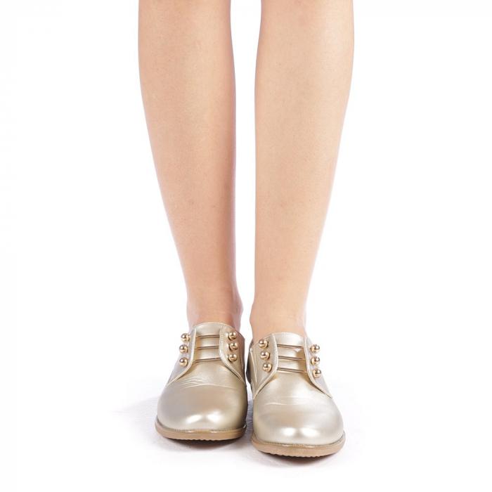 Pantofi dama Radmila aurii 3