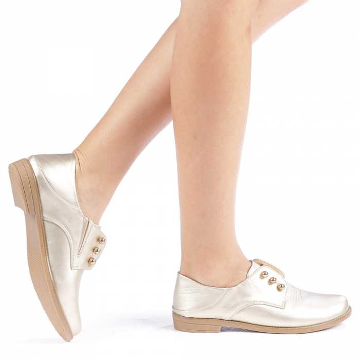 Pantofi dama Radmila aurii 0