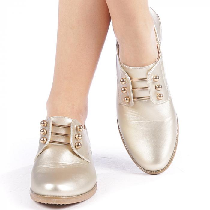 Pantofi dama Radmila aurii 4