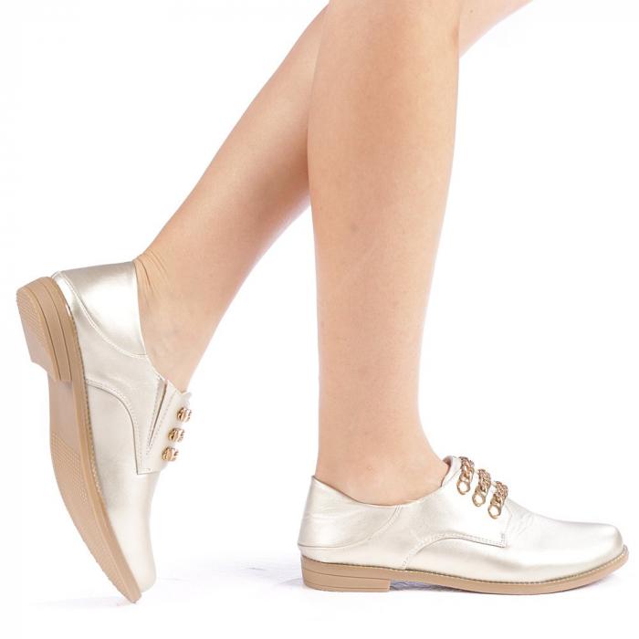 Pantofi dama Rafila aurii 0