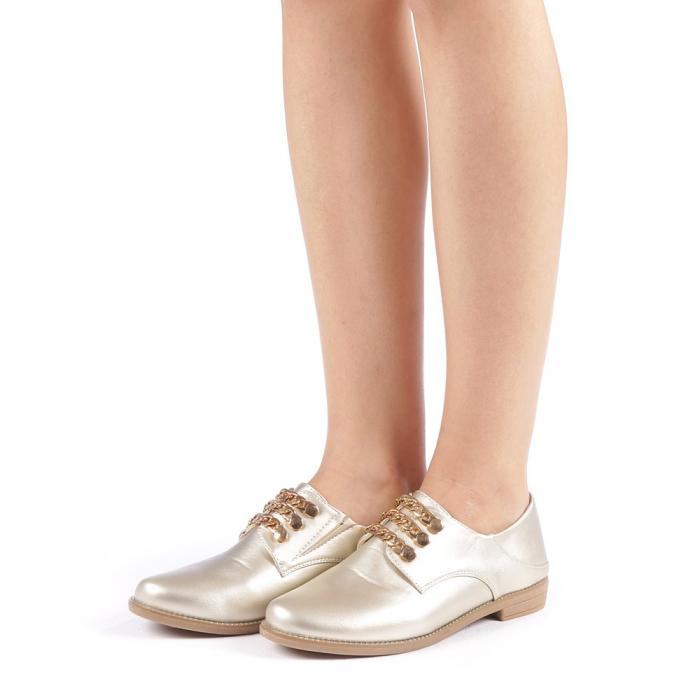 Pantofi dama Rafila aurii 1