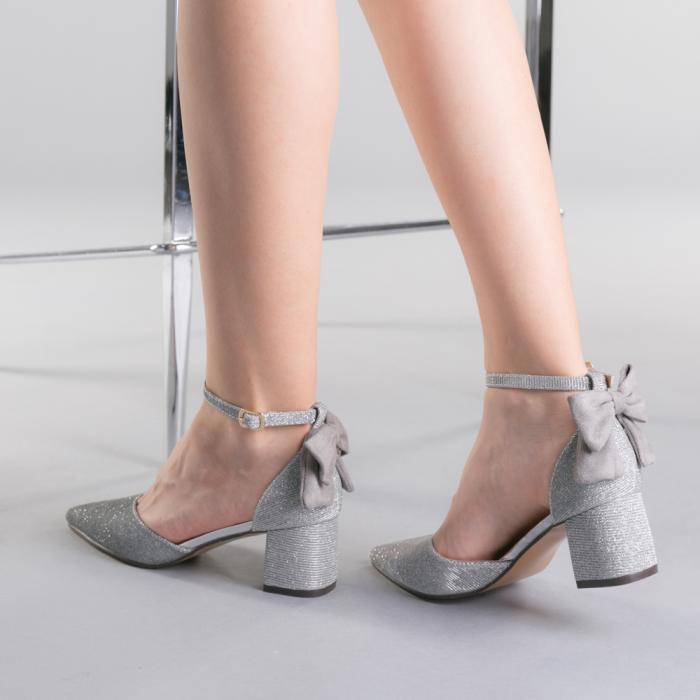 Pantofi dama Roxanne argintii 3