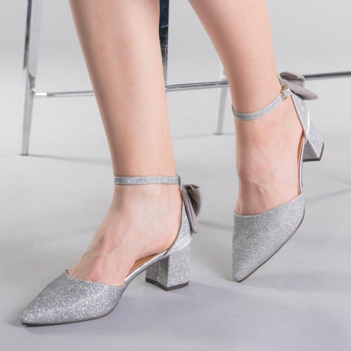 Pantofi dama Roxanne argintii 0