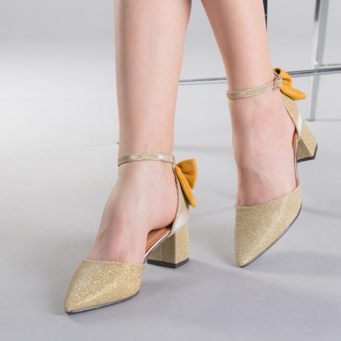 Pantofi dama Roxanne aurii 0