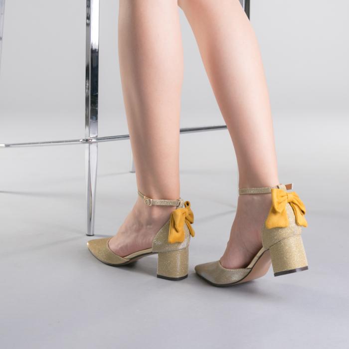 Pantofi dama Roxanne aurii 3