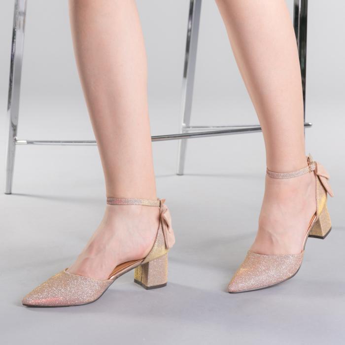 Pantofi dama Roxanne champanie 0