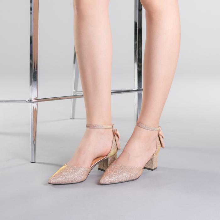 Pantofi dama Roxanne champanie 2