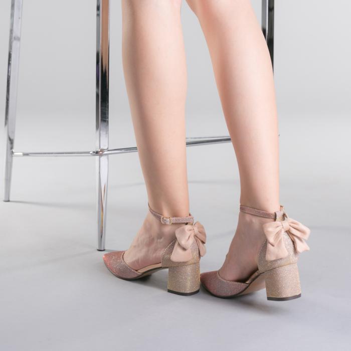 Pantofi dama Roxanne champanie 3
