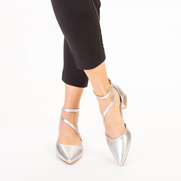 Pantofi dama Safa argintii 1