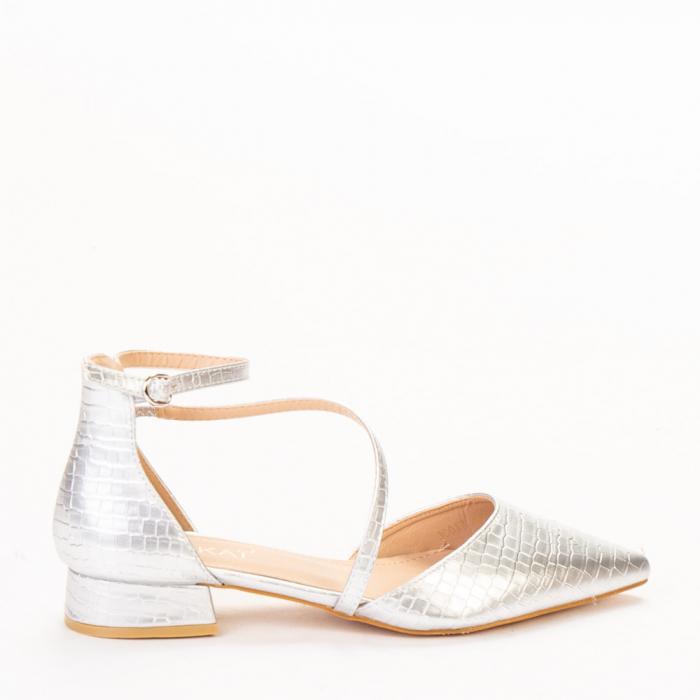 Pantofi dama Safa argintii 0