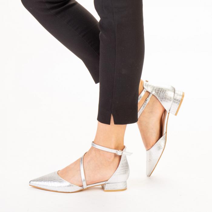 Pantofi dama Safa argintii 2