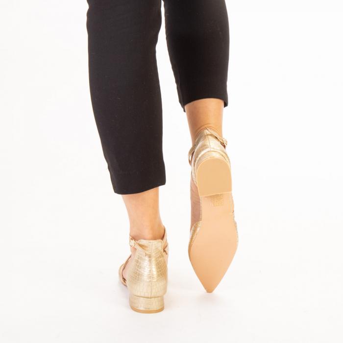Pantofi dama Safa aurii 3