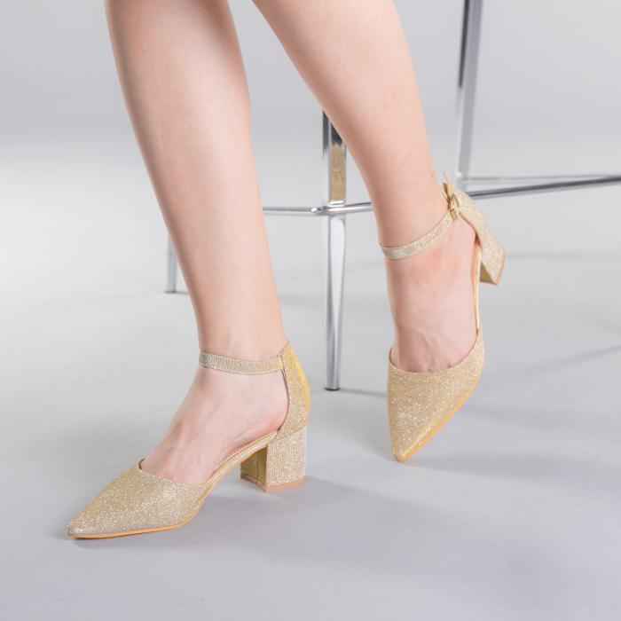 Pantofi dama Sorelia aurii 2