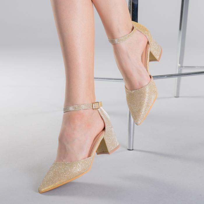 Pantofi dama Sorelia aurii 0