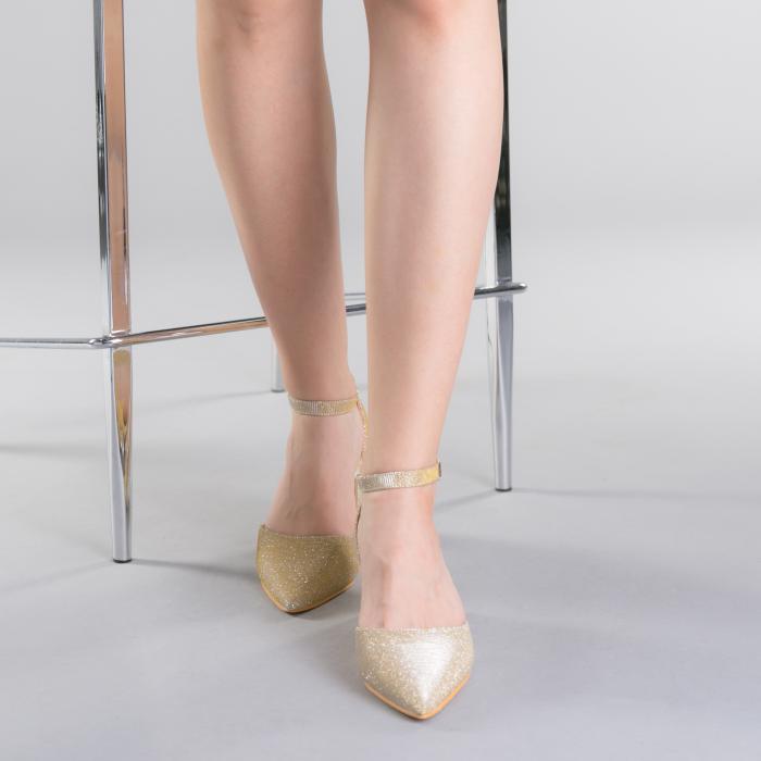 Pantofi dama Sorelia aurii 1