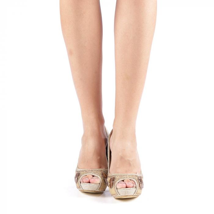 Pantofi dama Stacy aurii 3