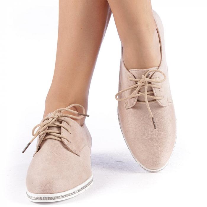 Pantofi dama Tarra bej 4