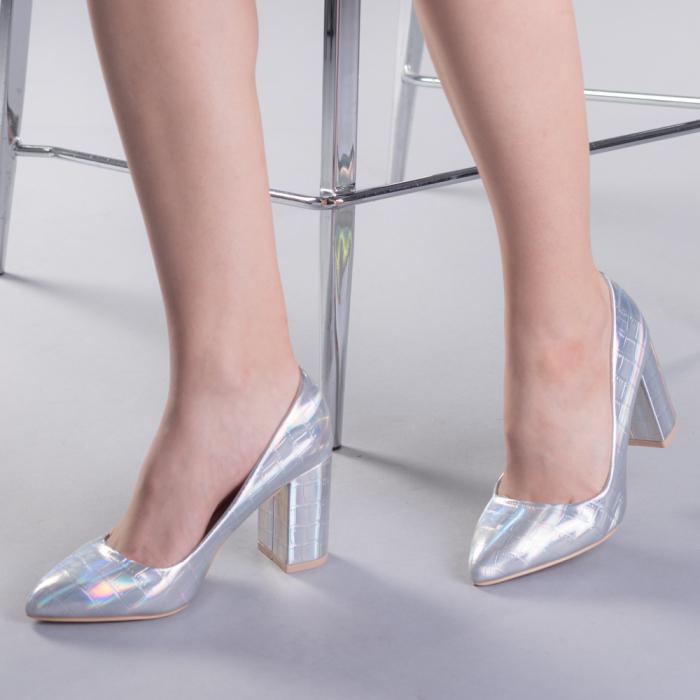Pantofi dama Tina argintii 0