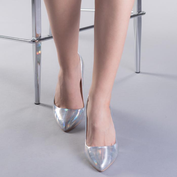 Pantofi dama Tina argintii 1