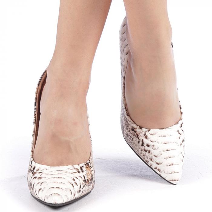 Pantofi dama Torra bej 4