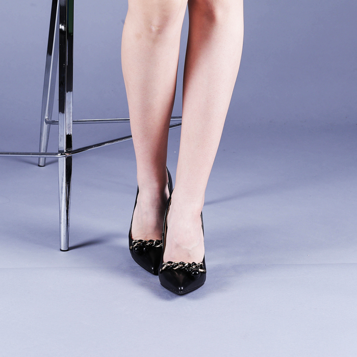 Pantofi dama Valentina negri 1