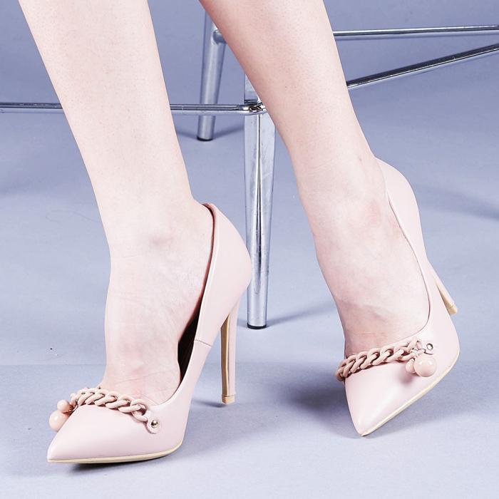 Pantofi dama Valentina roz 0