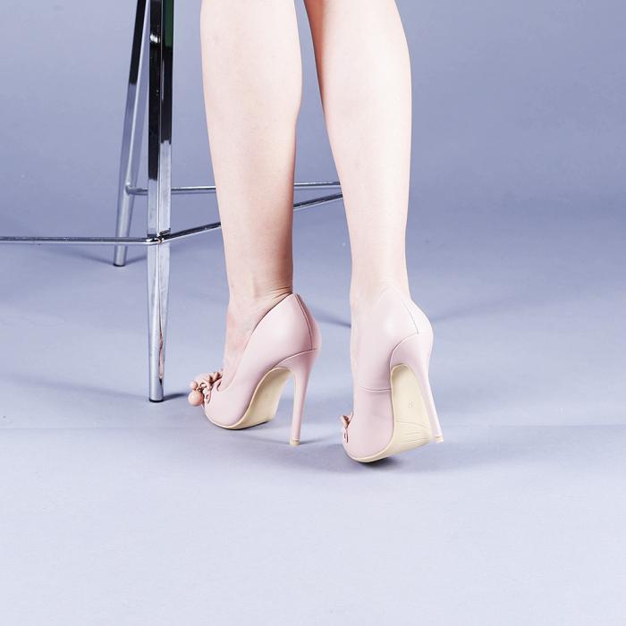 Pantofi dama Valentina roz 3