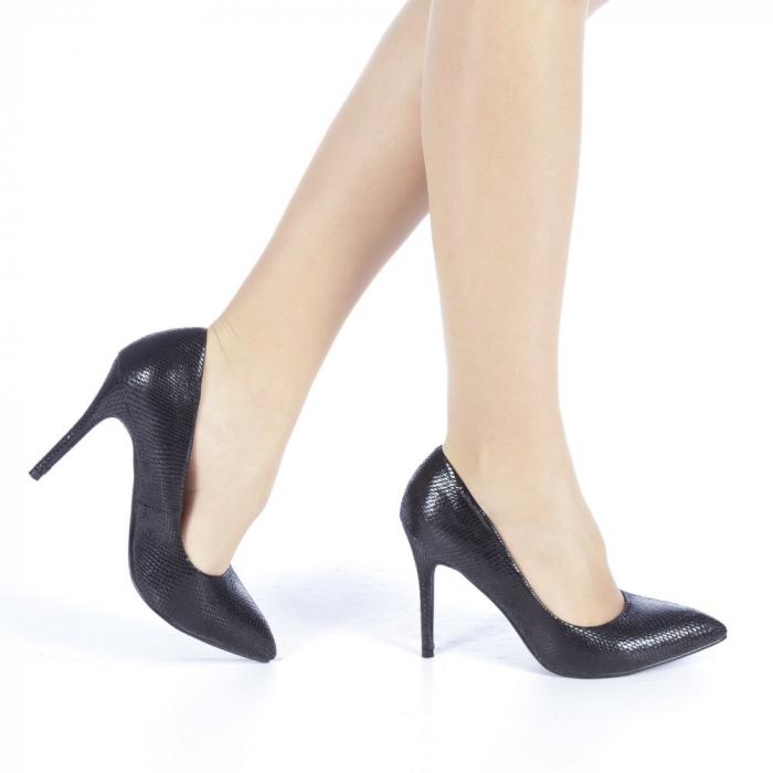 Pantofi dama Veria negri 0