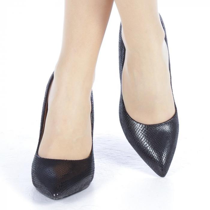 Pantofi dama Veria negri 1