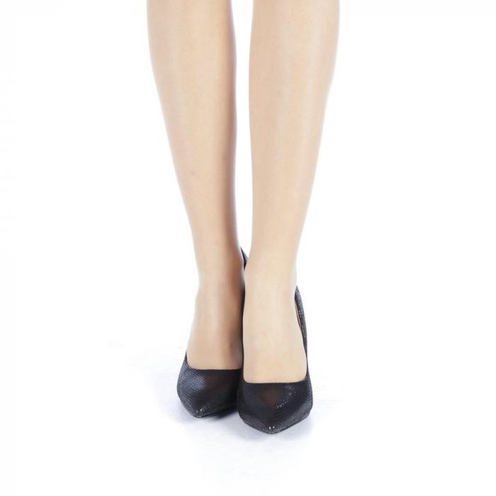 Pantofi dama Veria negri 4