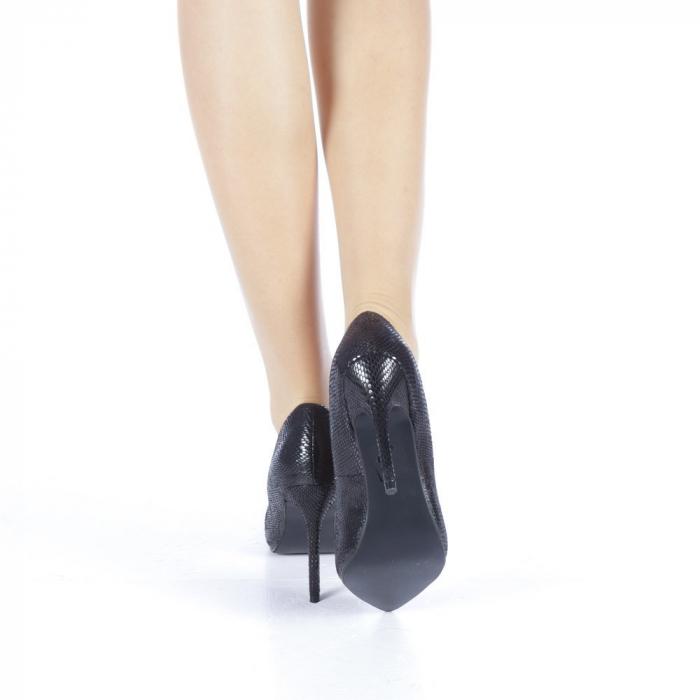 Pantofi dama Veria negri 3