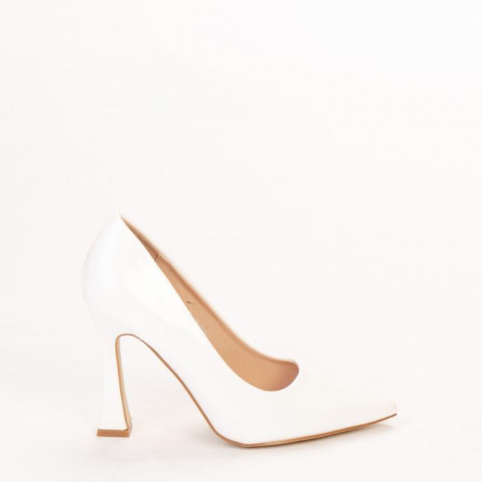 Pantofi dama Wanda albi 0